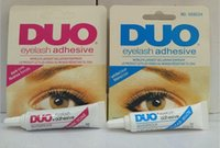 Wholesale Duo Eyelash Adhesive Glue - factory sell !! Adhesive DUO Eye Lash Glue False Eyelashes Clear White & black Makeup Adhesive WATER PROOF Eyelash Adhesive 9G Makeup Tools