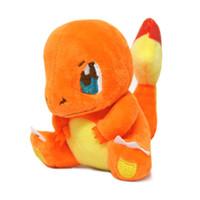 peluche lapras venda por atacado-8 Pçs / lote Pikachu / Charmander / Gengar / Bulbasaur / Squirtle / Dragonite / Snorlax / Lapras Brinquedos de pelúcia para crianças Brinquedos de animais de pelúcia Bonecas para crianças