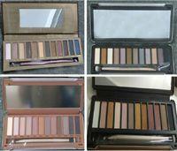 Wholesale Wholesale Iron Box - Eye shadow Palette Makeup EyeShadow Palette (1 2 3 5) 12 Color Awesome Eyeshadow Iron Box DHL Fast shipping