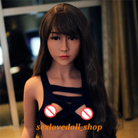 Wholesale Chinese Solid Silicone Male Doll - NEW 156cm Top quality Tan skin silicone sex doll for men, vagina real pussy sexy doll, chinese lifelike adult love doll
