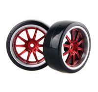 Wholesale Hpi Drift Wheels - 4x RC Hard Tires Tyre Plastic Wheel Rim HSP HPI 1:10 On-Road Drift Car 9087-6015