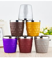 square coffee cups - 180ml Stainless Steel Mug Coffee Cups Wine Glasses Water Cup Outdoor Personalized Mugs Colorful Cups Gifts HH C24