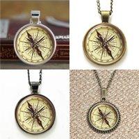 Wholesale christmas art pictures - 10pcs Pendant Compass Picture Art Pendant Necklace keyring bookmark cufflink earring bracelet