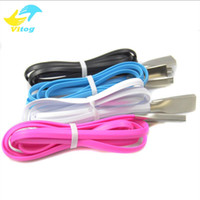 Wholesale Galaxy S4 Alloy - 2A 1M Micro USB Cable Zinc Alloy Metal TPE Cord Data Sync Wire Charger For Samsung Galaxy S4 S3 S6 for HTC Android Phone Cable