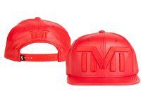 tope de dinero al por mayor-Moda caliente TMT Snapback Hat The Money Hats Visera de verano Gorra de cuero Street Skateboard Gorras Gorras ajustables