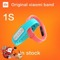 Großhandel-Original Xiaomi Mi Band 1S Pulsmesser Smart Wristband Miband Armband für Android 4,4 iOS 7,0 Passometer Fitness Tracker