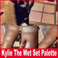 Wholesale Wholesale Powder Palette - Kylie Jenner The Wet Set 4color Bronzer & Highlighters Pressed Powder Palette Unbothered Get A Way By Kylie Cosmetics