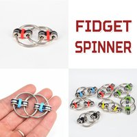 Wholesale Big Black Rings - Fidget Spinner Key Ring Fidget Gyro Toy Fidget Spinner Toy Professional EDC Stress Release Toy With the Opp Packing