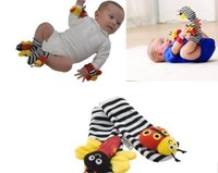Wholesale Cheap Baby Rattles Toys - 2016 Wholesale Cheap 600pcs New Sozzy Wrist Rattle Foot Finder Baby Toys Baby Rattle Socks Lamaze Baby Rattle Socks wristband