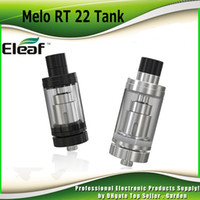 Wholesale Rt Free - Original Eleaf Melo RT 22 Atomizer 3.8ml Innovative Retractable Top Filling sub ohm Tank ER 0.3ohm Coil Head 100% Genuine DHL Free 2205078