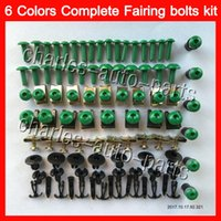 Wholesale Zx9r Body Kit - Fairing bolts full screw kit For KAWASAKI NINJA ZX9R 98 99 ZX-9R ZX 9 R 98-99 ZX 9R ZX9R 1998 1999 99 Body Nuts screws nut bolt kit 13Colors
