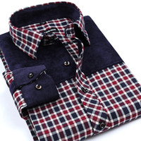 Wholesale Wholesale Plaid Shirts For Men - Wholesale- New Arrival Leisure Styles Men's Non-Iron Flannel Shirts Slim Fit Spliced Shirt Brand Plaid Shirts For Men Boutique Clothing