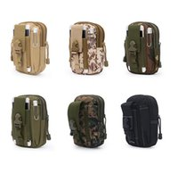 Wholesale camel outdoor backpack resale online - Outdoor Sport Casual Tactical Belt Loops Waist Bag Moile Waist Pack Smartphone Mobile Phone Case Hiking Pouch Waist backpacks