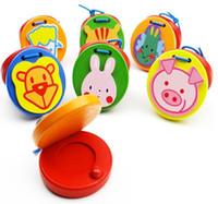 instrumento animal al por mayor-Bebé Tablero de sonido de madera Percusión Orff Instrumentos Animales Juguetes educativos de madera Percepción de juguetes musicales para bebé