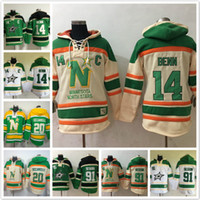 Wholesale Dino Hoodies - Dallas Stars hoodies Jamie Benn Jersey #14 20 Dino Ciccarelli 91 Tyler Seguin Ice Hoody Sweatshirts Red blue green beige