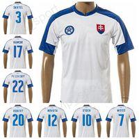 Wholesale Footballs Robert - Slovakia Soccer Jersey Custom 2017 2018 Thai 17 Marek Hamsik Football Shirts National Team 3 Martin Skrtel 20 Robert Mak Thailand Quality