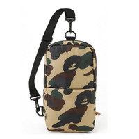Wholesale Outdoor Chest - New Sling Chest Bags Unisex Travel Bags nylon Backpacks Outdoor One Shoulder Cycling Bags Camouflage Crossbody Bag
