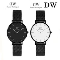 Wholesale Thin Brown Watch - New fashion Ultra thin rose gold woman watches luxury brand Daniel watches Small dial Steel strip ladies dresses wristwatch gifts relogio