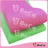 Wholesale Glitter Grosgrain - wholesale 100yard lot 75mm 3 inch hot pink yelllow green solid glitter holographic grosgrain ribbon with accept custom design
