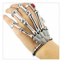ingrosso braccialetto d'argento dorato di scheletro-Hot Nail Anelli per unghie Knuckle Ring Argento Cool Punk Bracciale gioielli con gemma Hipa Scheletro mano Bone Talon Artiglio cranio Bracciale polsino