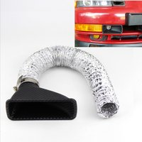 Wholesale Intake Manifolds - 1Kit Universal Car Turbo Air Intake Pipe Turbine Inlet Pipe Air funnel ABS Around 4.5CM Diameter Air funnel ABS Square