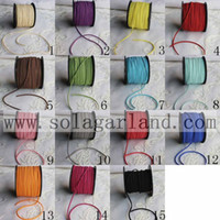 Wholesale Wholesale Suede Lace - Wholesale 100Yard Roll 3MM Faux Flat Suede Cord String Leather Lacing Cord, Genuine flat Leather Suede leather jewelry supplies