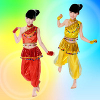 Wholesale National Dance Dress - 2017 hot selling children's national costume Xinjiang dance dress costume masquerade festival performance clothing free shopping