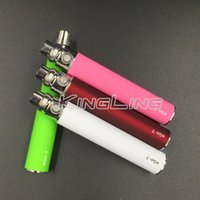 Wholesale E Cig Ego Ce4 Clearomizer - EGO Battery for Electronic Cigarette E-cig Ego-T 510 Thread match CE4 atomizer CE5 clearomizer CE6 650mah 900mah 1100mah 9 Colors