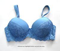 Wholesale Fat Bow - Big Cup Bra Fat Wide Shoulder Bigger Sizes 85D 90C 95CD 100D Underwear Underwire Bra