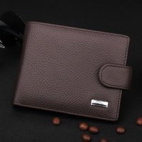 Wholesale Wholesale Acrylic Business Card Holders - Wholesale- Vintage Men Wallets Luxury PU & Genuine Leather Purses Short Casual Male Card Holder Brand Wallet