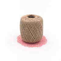 Wholesale 2mm Natural Jute Twine - 100M 2mm Thin 2 shares rope, Natural Jute Twine Cord DIY Decorative Handmade Accessory Hemp Jute Rope For Paper crafting