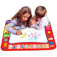 çocuk oyuncakları toptan satış-80x60 cm Bebek Çocuk Sihirli Kalem ile Su Ekleyin Doodle Boyama Resim içinde Su Çizim Oyunu Mat Çizim Oyuncaklar Kurulu Hediye Noel