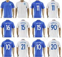 Wholesale football tshirt - 2017 2018 Thai Top 11 Kostas Mitroglou Soccer Jersey Greece Football Shirt Uniform Kits Foot Tshirt Custom 8 PETSOS 16 DIMITRIOS 20 HOLEBAS