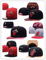 Wholesale cap city hats - New Hot Top Sale Wholesale 2017 Miami City Hats Men Womens Hiphop Sports Cap Basketball Team Adjustable 47 Fifty Snapback Headware