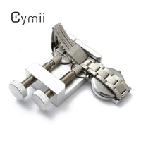 Wholesale Adjustable Lowering Kit - Wholesale-Cymii Metal Adjustable Watch for Band Strap Holder for Links Pin Punches Remover Watch Repair Tool Kits Lowest Price