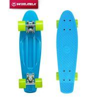 "Wholesale Long Skateboard 22 - Winmax DIY Pastel Color Original Board 22"" Plastic Skateboard board Boy Girl Retro Cruiser DIY Pastel Color Skateboarding"