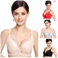 Wholesale Sexy C Cup Padded Bra - Fashion Plus size full coverage push up bra sexy lace cotton intimate brassiere thin cup bra full cup C D E for women H048