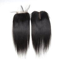 Wholesale 4x4 Swiss Lace Closure - Wholesale Cosy 4x4 Swiss Free Middle Part Lace Closure Straight Body Wave Cheap Lace Closure Bundles with Baby Hair Natural Color