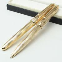 geflochtene linie mm großhandel-Luxus MT Cruise Kollektion Platinum Line Braid Gold Kugelschreiber Deutschland Montel Stift zum Schreiben mit Seriennummer