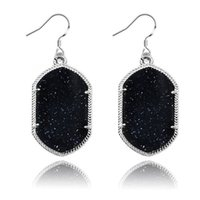 sparkle acrylic - Acrylic sparkle earrings for women geometric silver plated chandelier