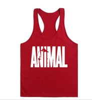 Wholesale Gym Men Vest Bodybuilding Tank Top Muscle Clothing Stringer T Shirt and retail