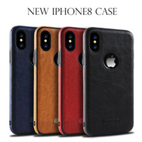 Barato Tampa Traseira-Para iphone x 8 mais Flip Leather Coating Shockproof TPU Back Case Cover Para iphonex 8 7 6 plus S8