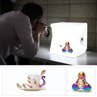 Wholesale Mini Light Photo - Mini Photo Studio Box Photography Backdrop Built-in Light Photo Box Little Items Photography Box Studio Accessories