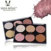 Wholesale miss rose palette - drop ship Highlight Makeup Powder Palette Contouring Shimmer Bronzer And Highlighter Waterproof Bronzers Highlighters Glow Kit Miss Rose