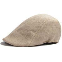 erkekler ilmi şapkalar şapkalar toptan satış-Toptan-Mens Womens Ördek Gagası Kap Ivy Cap Golf Sürüş Güneş Düz Cabbie Newsboy Şapka Unisex bereliler