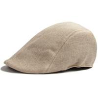 düz şapkalı bülbül şapkası toptan satış-Toptan-Womens Duckbill Cap Ivy Cap Golf Egzersiz Güneş Düz Cabbie Newsboy Şapka Unisex bere