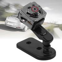 cámara de detección de movimiento mini cámara al por mayor-SQ8 940NM Pequeño Mini DV Cámara del coche Coche Grabador DVR Detección de movimiento 1080 P Full HD Deporte DV Video por voz Luz infrarroja Noche 4 LED Camcorder