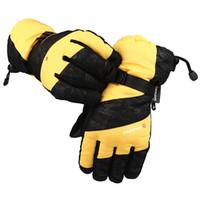 gants imperméables à l'homme achat en gros de-Hiver Mâle Professionnel Ski Gants Hommes Étanche Chaud Garçons Cadeau De Noël Neige Guantes Coupe-Vent Gant Chaud Vente Chaude 18lb J1