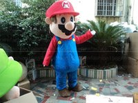 Wholesale Super Mario Characters Fancy Dress - High quality Super Mario Bros Mascot Costume Popular Cartoon Character Costume Adult Fancy Dress Halloween carnival costumes