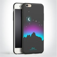 Wholesale Hand Paint Iphone Case - Fashion Hand Painted Starry Sky Case PC Full Protect Shock-proof Back Cover Case for iPhone 7 7 plus 6s 6 plus